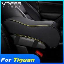 Vlarme pour VW Tiguan 2020-2017 MK2 accessoires voiture accoudoir boîte en cuir coussin coussin voiture Console centrale bras repose siège auto produits