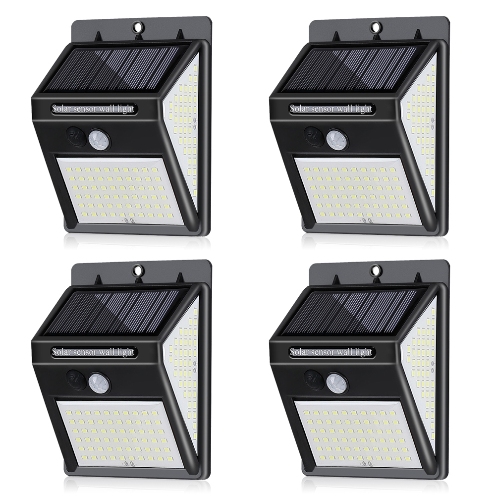 1/2/4pcs Outdoor Solar Light 140LED Solar Motion Sensor Wall Light Waterproof Garden Porch Lamp Sun Powered Solar Lamp