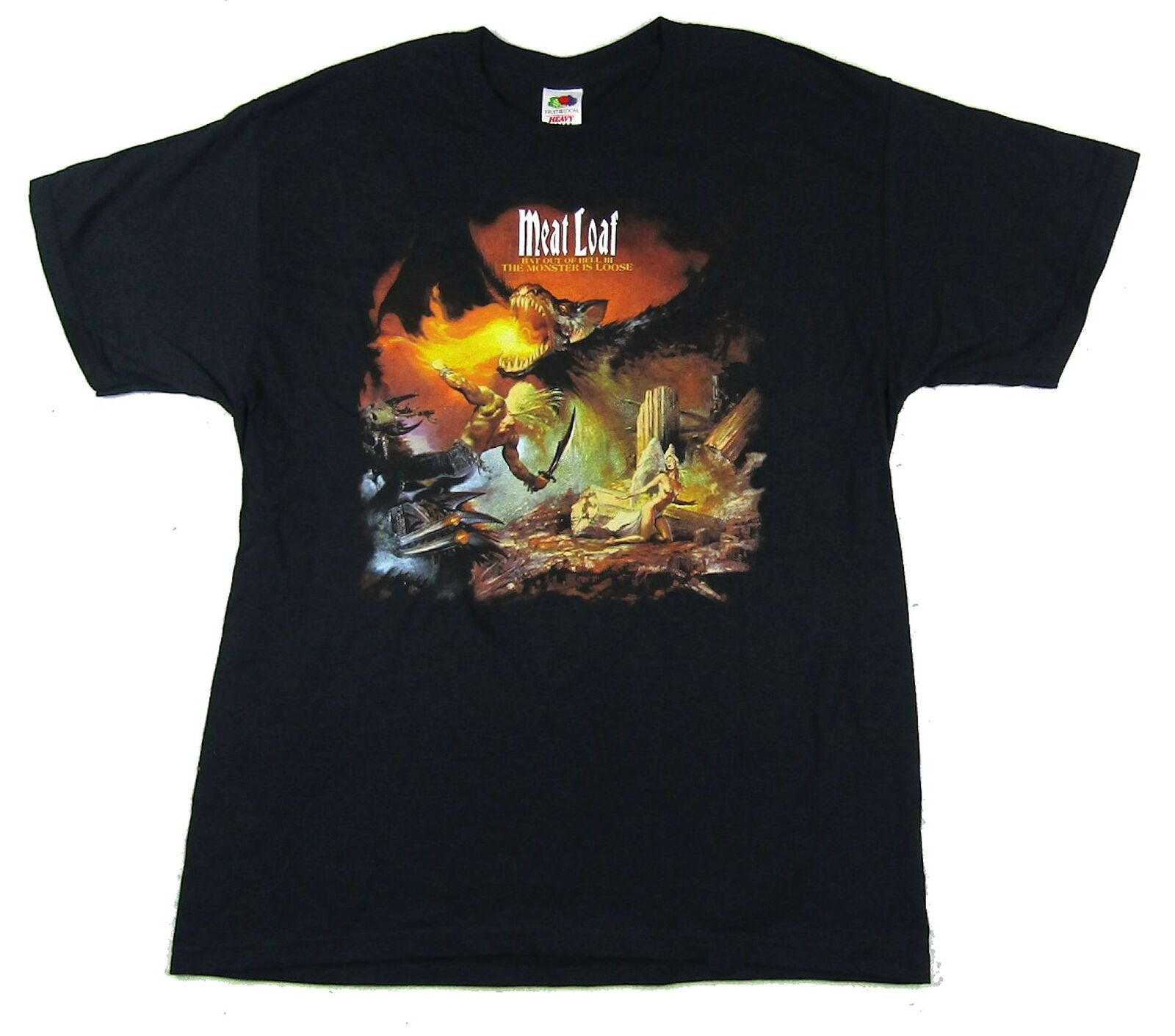 Meat Loaf The Monster Is Loose Black T Shirt New Official Bat Out Of Hell 2 Short Sleeve Tee Shirt Free Shipping cheap wholesale image