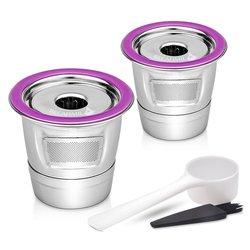 ステンレス鋼のコーヒーフィルター K カップバスケット再利用可能なコーヒーカプセルドリッパーキューリグ 1.0 & 2.0 ブルワーズと互換性