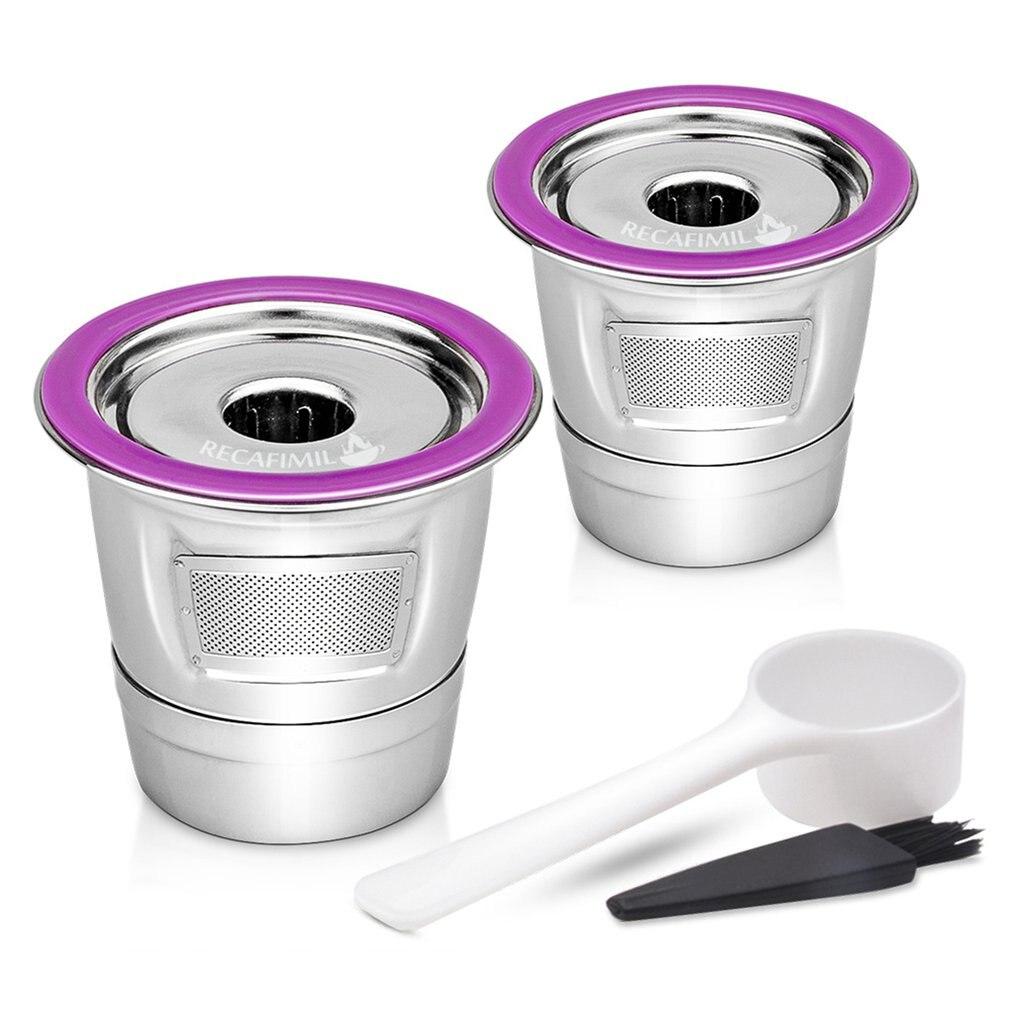 Filtro de café de acero inoxidable K cestas de tazas reutilizables cápsulas de café gotero Compatible con cerveceros Keurig 1,0 y 2,0