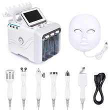 7 in 1 Water Oxygen hydrafacial machine skin care Deep Cleansing Exfoliating Hydro Dermabrasion  Jet Peel Machine with Led mask