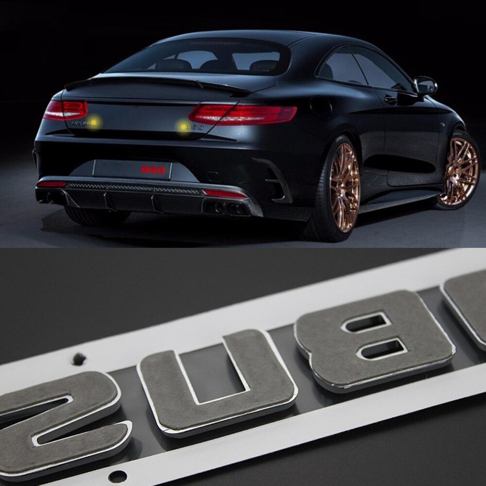 Car Trunk Sticker For Mercedes Benz Brabus W205 W463 G500 G350D G55 G63 AMG G800 Brabus Emblem Badge Sticker Rear Tuning