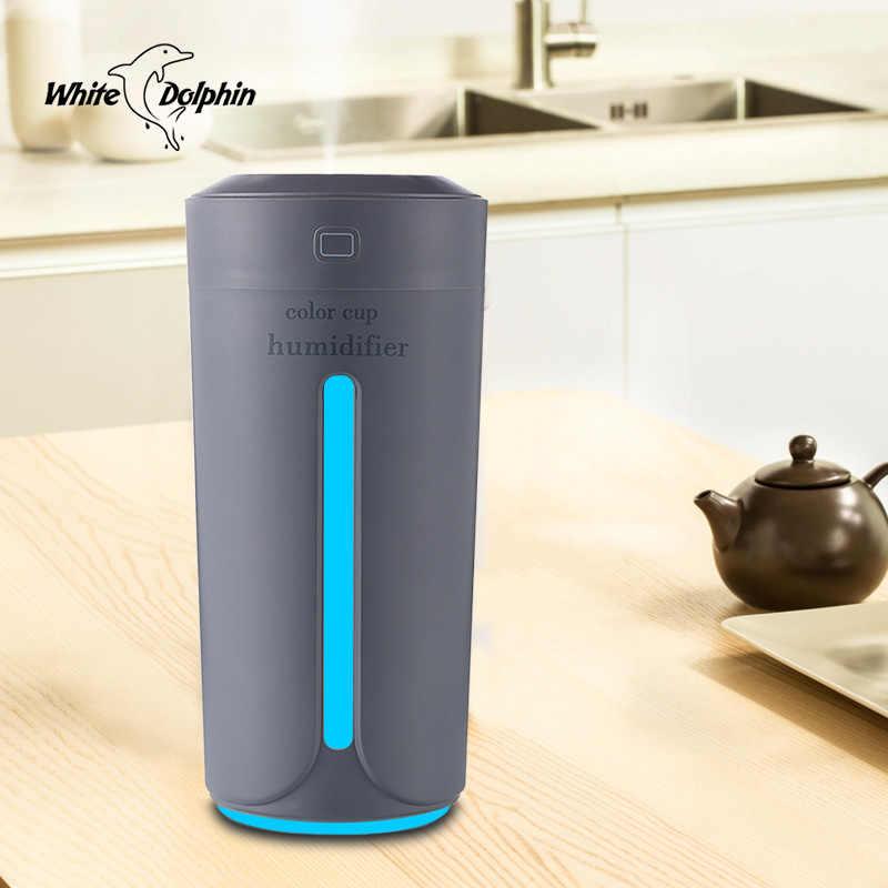 Difusor de Aroma de aceite esencial USB humidificador de coche con 7 luces LED cambiantes de Color para oficina humidificador de aire ultrasónico