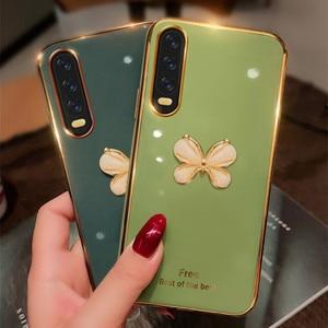 Силиконовый мягкий позолоченный чехол для Huawei P20 P30 P40 Mate 10 20 30 Pro Lite Honor 8 9 10 20 Lite 8S 9C 9A 9X 8X 7A 7C Pro 3D, чехол