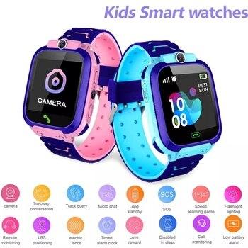 S12 Children's Smart Watch Multifunction Kids Watch LBS Tracker SOS Call SmartWatch Anti Lost Monitor Baby Wristwatch VS Q12 kids anti lost gps tracker smart watch sos call safe wristwatch waterproof hw11