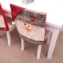 Christmas Decoration Home Decor Hat Back Chair Cover Decor Restaurant Hotel Square Stool Snow Man Furniture Decoration pillow cover christmas snow man home decoration