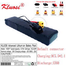 KLUOSI 36V 8.7Ah 8Ah 10S3P 36V Battery 600W 42V 18650 Battery Pack for Xiaomi M365 Pro Ebike Bicycle Scooter Inside with 20A BMS
