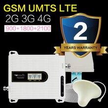 2019ใหม่รุ่น2G 3G 4G Tri Band 70dB GSM LTE WCDMA 900 1800 2100โทรศัพท์มือถือโทรศัพท์มือถือสัญญาณBooster Repeaterเสาอากาศ13M