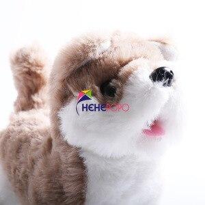 Image 4 - 2pcs / Set Hot Electric Soft Plush Robot Dog Husky Toys Can Bark Walking Forward and Backward Simulation Toys for Children Gifts
