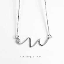 ZOBEI 925 Sterling Silver Twisted Line Simple Geometric Women Necklaces Pendants Collar Sterling Silver Jewelry
