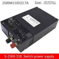 S 2500 110V20A high power power supply output voltage 0 110VDC adjustable with digital display device power supply