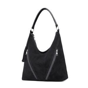 Image 2 - Mode vert daim et cuir PU femme sacs à bandoulière femmes en cuir sac à main concepteur grand dames Hobos sac pour mère sacs à main