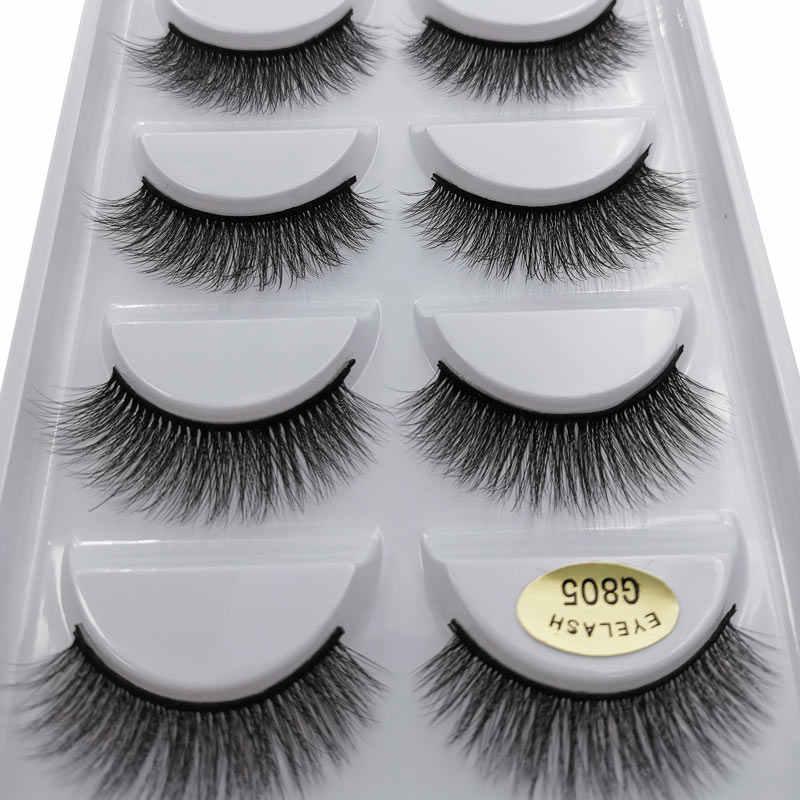 SHIDISHANGPIN 20Boxes of G805 3d eyelash natural long false eyelashes maquillaje dramatic eyelashes for mink cilios makeup tools