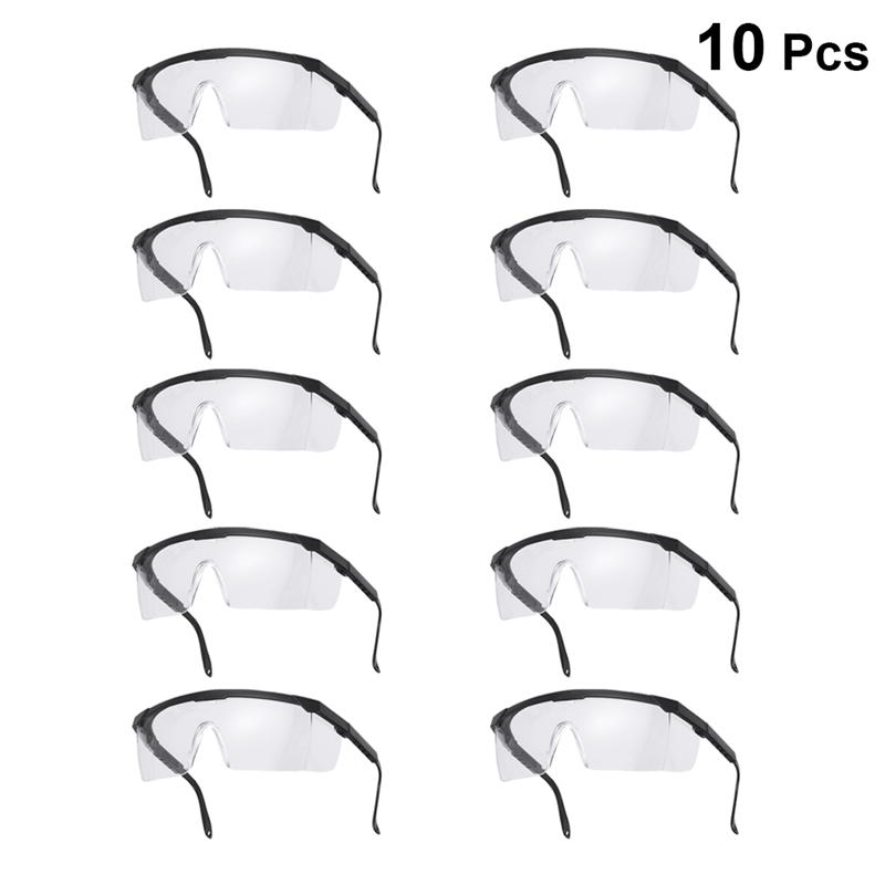 10PCS Disposable Safety Goggles Droplet Proof Safety Glasses Dust Wind Splash Proof Protective Glasses For Riding Cycling