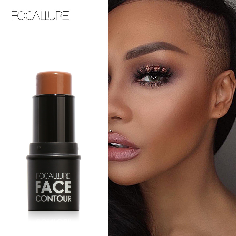 Focallure New Highlighter Stick All Over Shimmer Powder Creamy Texture Waterproof Silver Shimmer Light Makeup Concealer