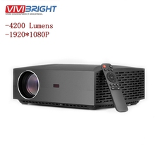 New VIVIBRIGHT F30 LCD Projector 4K HD 1080P 3D EU WIFI FHD Mini Portable