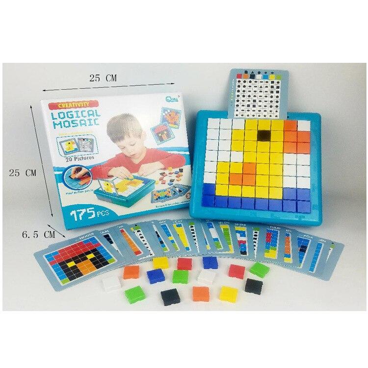 Раннее Образование мышление логическая головоломка гриб гвоздь мощная полоса мозаика квадратная детская стройка