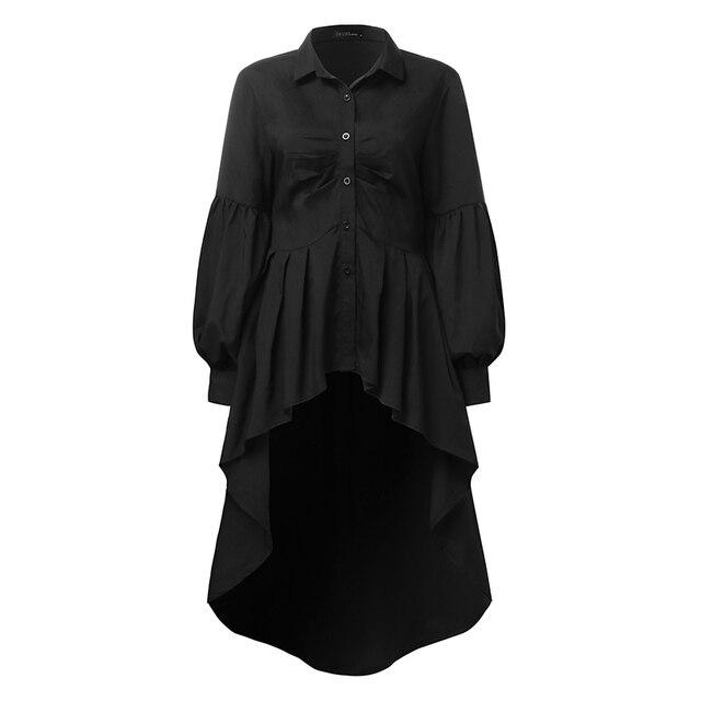 Elegant Lapel Neck Swallowtail Shirt 6