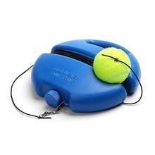 Czarna lina tenis + okrągła podstawa podstawa tenisowa plus lina pojedynczy trening tenis urządzenie trening tenis materiały szkoleniowe tenis sparring dev tanie tanio WQX1436