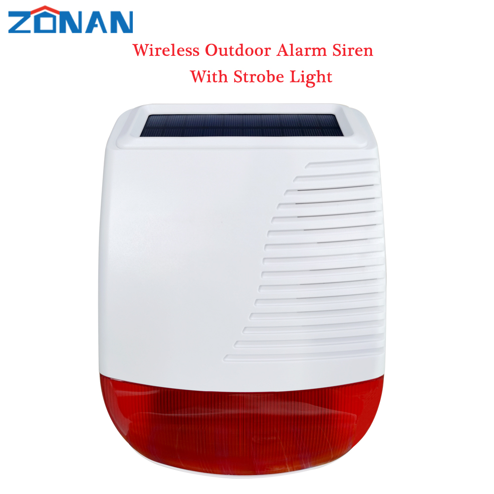 433MHz Outdoor Solar Wasserdichte Sirene Drahtlose Licht Flash Strobe Lautsprecher für Home Einbrecher Wifi 4G GSM Alarm Sicherheit system
