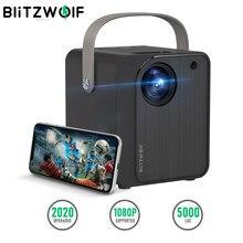 BlitzWolf BW-VP7 Mini projecteur LCD 5000 Lux Projecteur LED Wifi avec haut-parleur HD Miroir d'écran sans fil 1080P Portable Outdoor Movie Office Projecteurs de cinéma maison intelligents vidéo pour Smarphone