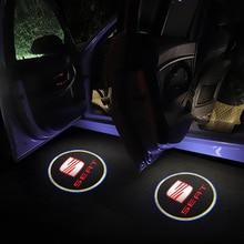 Badge-Lamp Welcome-Light Auto-Accessories Car-Logo-Door Niva LED Seat Leon Ibiza Alhambra