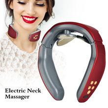 Электрический умный инструмент для массажа шеи импульсный массажер