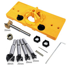 15mm-35mm Cup Style Hinge Jig Boring Hole Drill Guide Forstner Door Hole Template Wood Cutter Carpenter Woodworking Tools