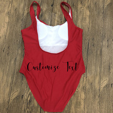 Customized Letter Personalized Swimwear One Piece Swimsuit Padded Private Ordering bathing suit Swimwear bachelor Party More Fun cheap Chairwoman Polyester spandex WOMEN geometric One Pieces Fits true to size take your normal size GSXB295-1