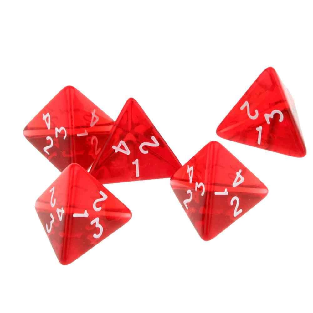 15Pcs Dadi Poliedrici D4 4-sided Arylic Gemma Muti-Sided Dadi per il Dungeons and Dragons DND Board giochi di Gioco Giochi Da Tavolo Rosso