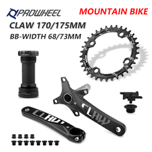 PROWHEEL 104BCD 175mm 170mm Cranks 30/32/34/36/38/40/42/44/46/48/50/52T Sprocket with Bottom Bracket Mountain Bicycle Crankset