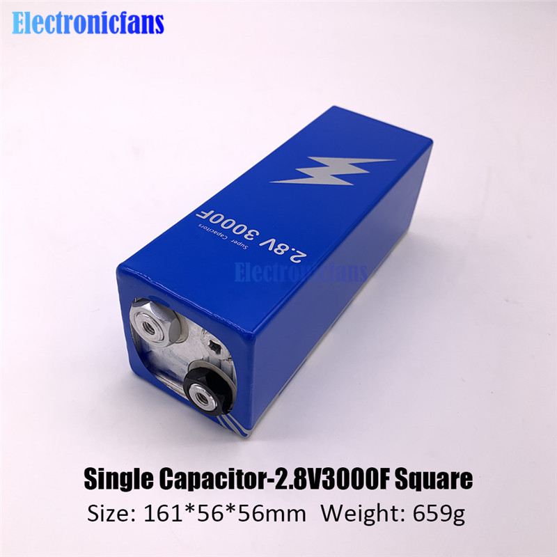 2.8V 3000F Super Farad Capacitor Low ESR High Frequency Super Capacitor 2.8V3000F For Car Vehicle Auto Power Supply 161*56*56mm