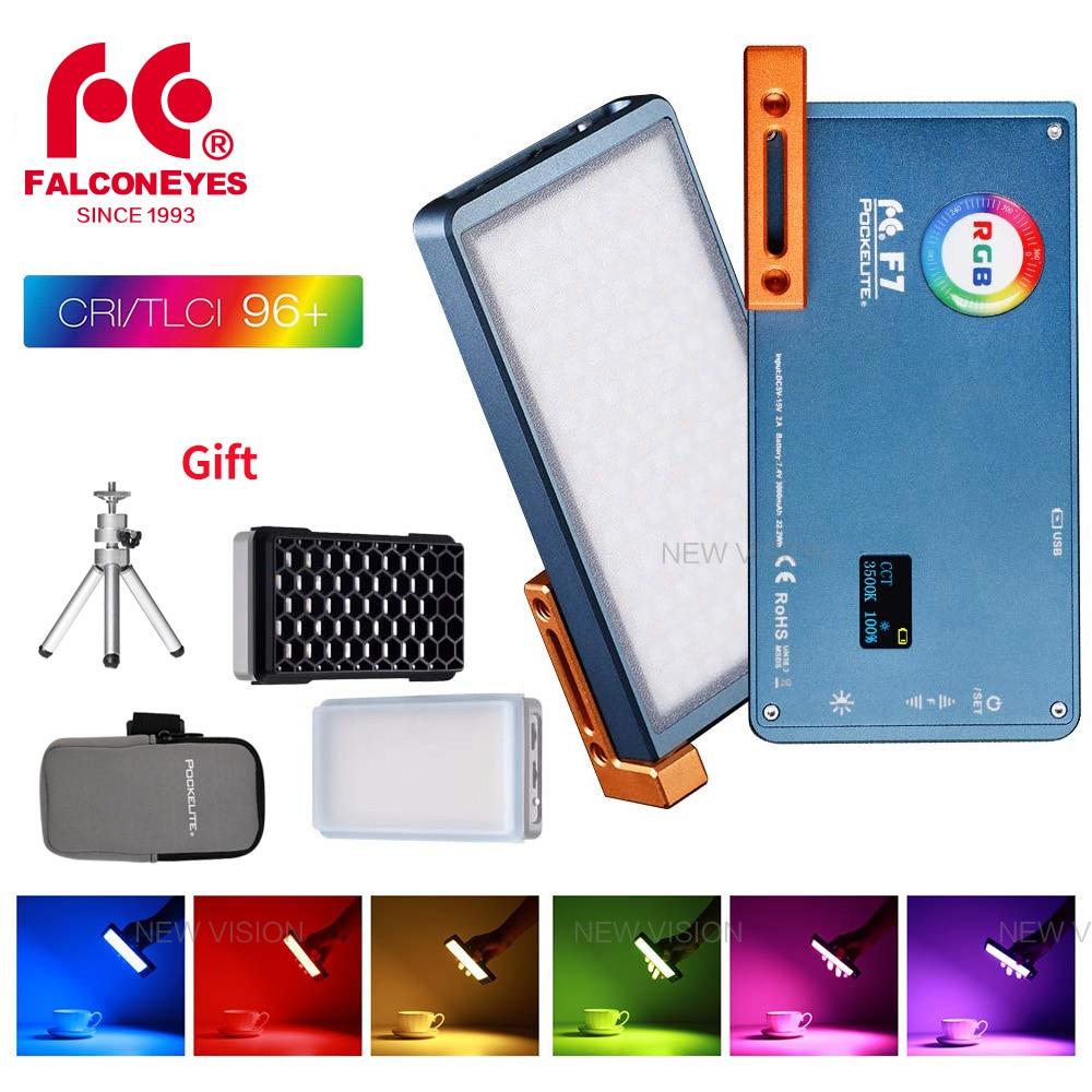 F7 360 RGB Full Color LED Pocket Camera Vlog Video Fill Light 2500K-9000K 12W