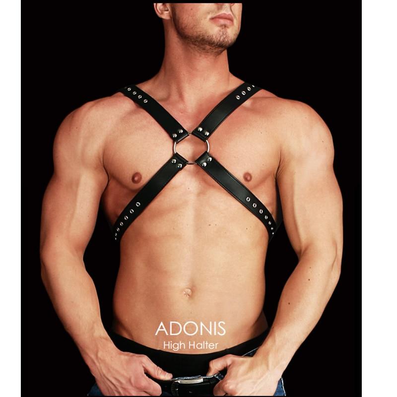 Closeout DealsUnderwear Vest Harness Bondage Black Sexy Tops Men's Flirting Gay-Man