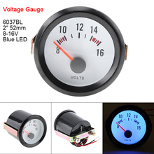 6037BL 2 52mm 12V Blue LED Voltage Meter Gauge Boost Tachometer/Oil Temp Meter/Oil Pressure with Sensor for Cars