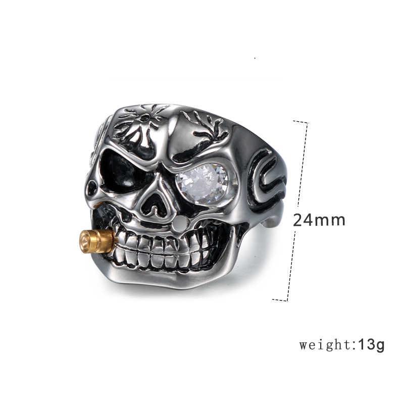 Newall สแตนเลสสตีลสีแดงหิน Punk แหวนเครื่องประดับคุณภาพสูง ZC แฟชั่นรักหมั้นแหวนธรรมชาติหิน