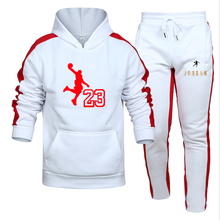 2021 New Brand Men's Sports suit Cotton Trendy Hooded Sports clothes 2 Piece Jogging Pants Sweatshirt Fitness Pullovers Set