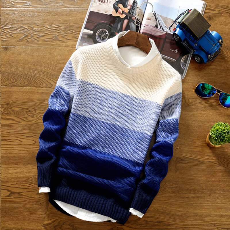 Men's Sweater  New Spring Autumn Fashion Casual Sweater O-Neck Slim Fit Knitting Men Pullover Long Sleeve Sweater Coat