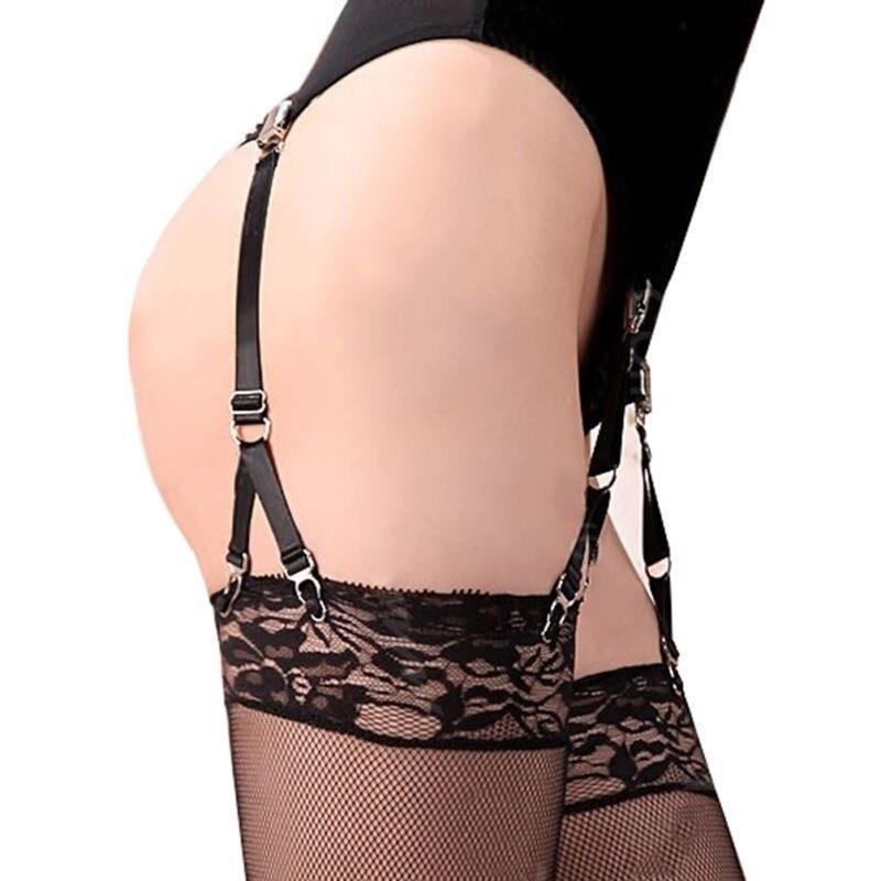Y Style Handmade Metal Clip Elastic Buckle New Sexy Harajuku Hosiery Nylon Belt Garters For Stockings Socks