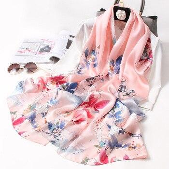 Foulard Spring Printed Silk Scarf