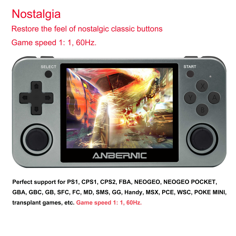 ANBERNIC Retro game RG350m Video giochi Aggiornamento hdmi console di gioco ps1 gioco 64bit opendingux da 3.5 pollici 2500 + giochi RG350 regalo del bambino