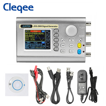 Cleqee JDS2900 60MHz Handheld Dual Channel DDS Function Signal Generator Digital Control Signal Source Arbitrary Waveform hantek 3in1 2d72 2c7 2d42 2d72 250msa s digital oscilloscope waveform generator multimeter usb portable 2 channel multifunction