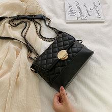 New Lingge Chain Shoulder Bag Casual Fashion Crossbody Women Small Square