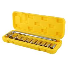 CY00175 10Pcs Tool Combination Torque Wrench Bicycle Car Repair Tool Ratchet Socket Spanner Mechanics Tool Kits