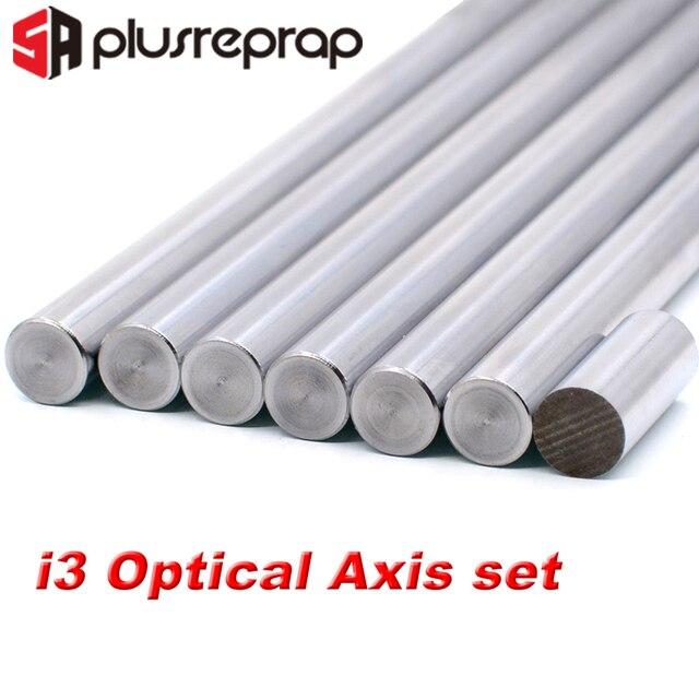 7 adet/grup lineer ray Prusa i3 OD 8mm pürüzsüz çubuklar lineer mil optik eksen krom kaplama 20mm 320mm 350mm 370mm 3D yazıcı parçası