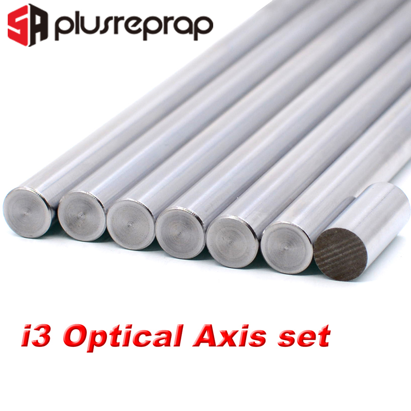 7pcs/lot Linear Rail Prusa I3 OD 8mm Smooth Rods Linear Shaft Optical Axis Chrome Plated 20mm 320mm 350mm 370mm 3D Printer Part