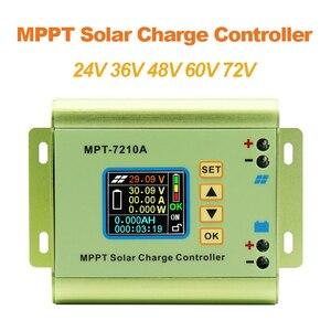 MPT-7210A LCD MPPT Solar Panel Charge Controller Aluminum Alloy for Lithium Battery output 600W 24V 36V 48V 60V 72V battery pack(China)