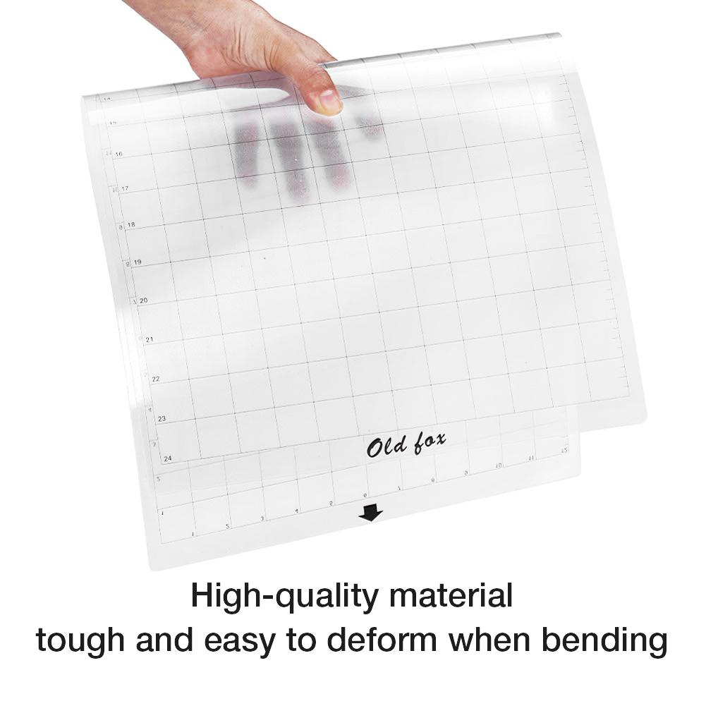 Hot 3Pcs Replacement Cutting Mat Transparent Adhesive Mat With Measuring Grid 8 By 12-Inch For Silhouette Cameo Plotter Machine