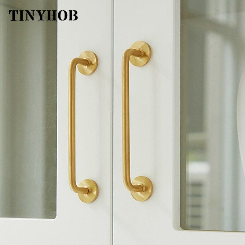 Минимализм 2,52-15,74 дюйма, золотые длинные ручки мебели и шкафа, кухонный шкаф, гардеробная, прикроватная ручка для шкафа